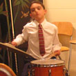 Photo of jazz drummer Justin at the Fall Jazz Series All Ages Jazz Jam